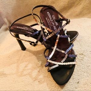 Donald J Pliner heeled sandals embellished